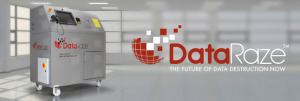 DataRaze secure audit-able destruction of hard drives, memory sticks and phones